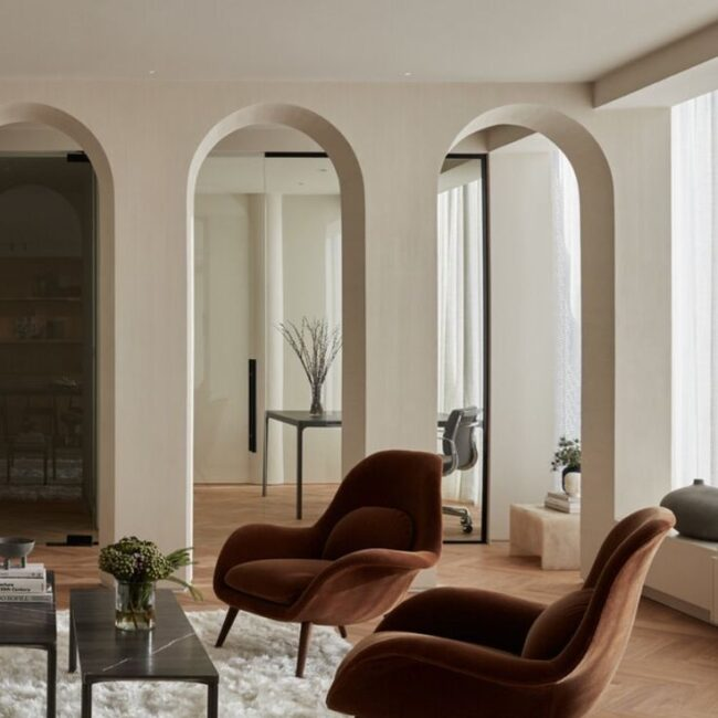Modern Elegant Chic Living Room Interior Design